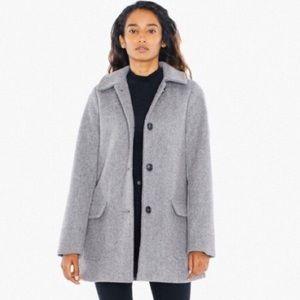 American Apparel 'Audrey' Wool Gray Coat